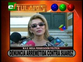 Titulares: Senadora Añez denuncia arremetida política contra Ernesto Suárez, MAS niega persecución