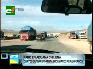 Demoras en la Aduana chilena por paro de trabajadores