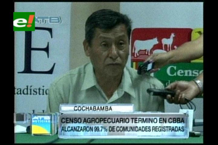 Censo Agropecuario concluyó con 99,7% de cobertura en Cochabamba