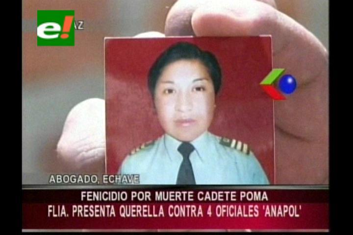 Familia de la cadete Poma demandará a 4 oficiales de la Anapol por feminicidio