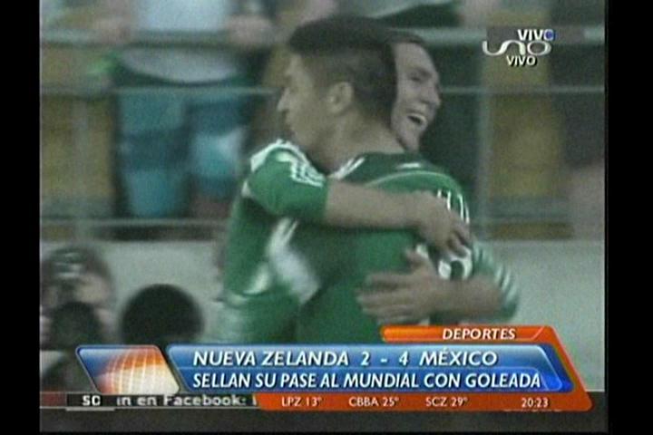 México vence a Nueva Zelanda 4-2 y está en Brasil 2014