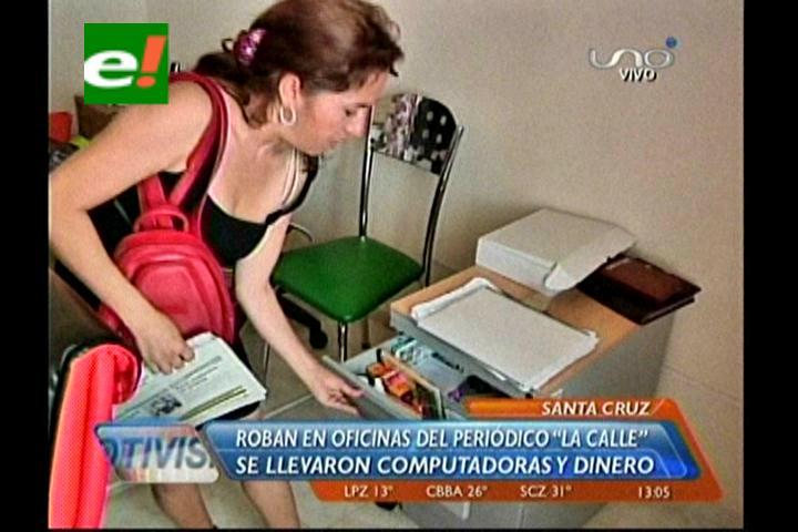 Santa Cruz: Sustraen equipos del periódico La Calle