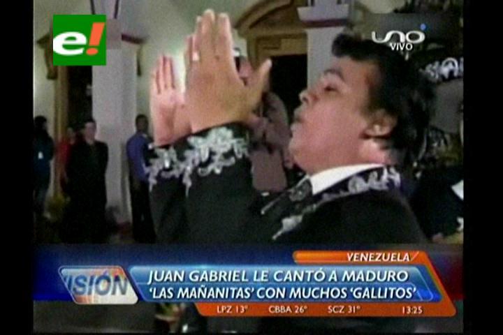 Juan Gabriel le canta a Maduro en vispera de su cumpleaños