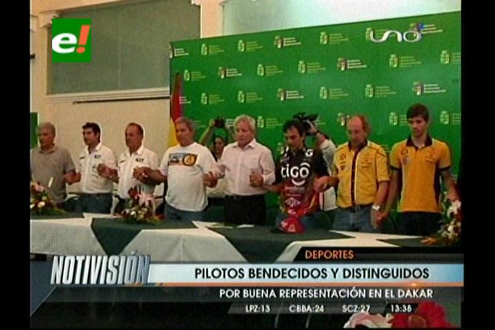 Gobernación cruceña distinguió a pilotos del Rally Dakar