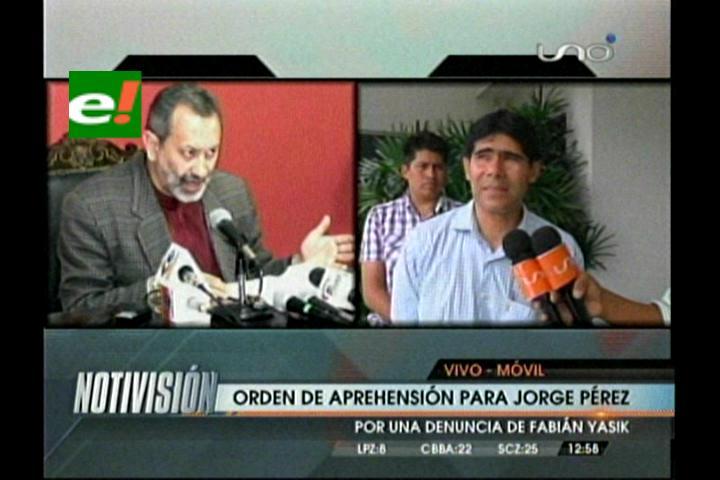 Viceministro Pérez desconoce orden de aprehensión en su contra