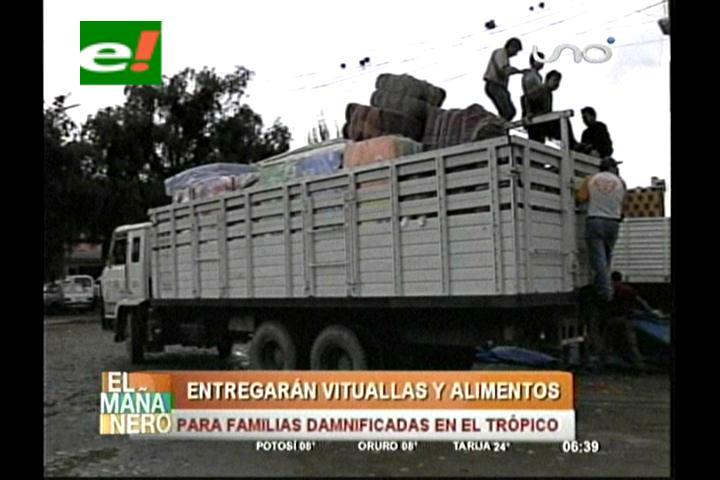 Envían ayuda para 6.456 familias del trópico de Cochabamba