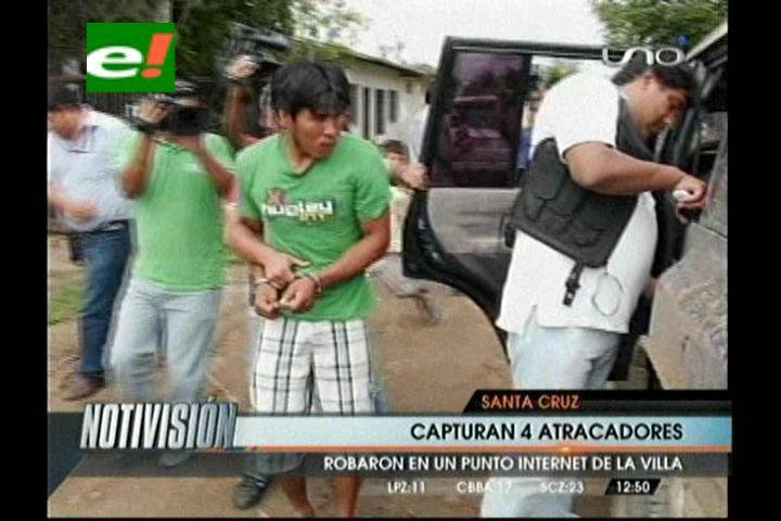 Felcc captura a 4 supuestos atracadores en la Villa Primero de Mayo