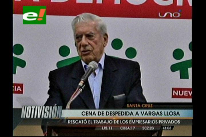 Cena de despedida para Mario Vargas Llosa