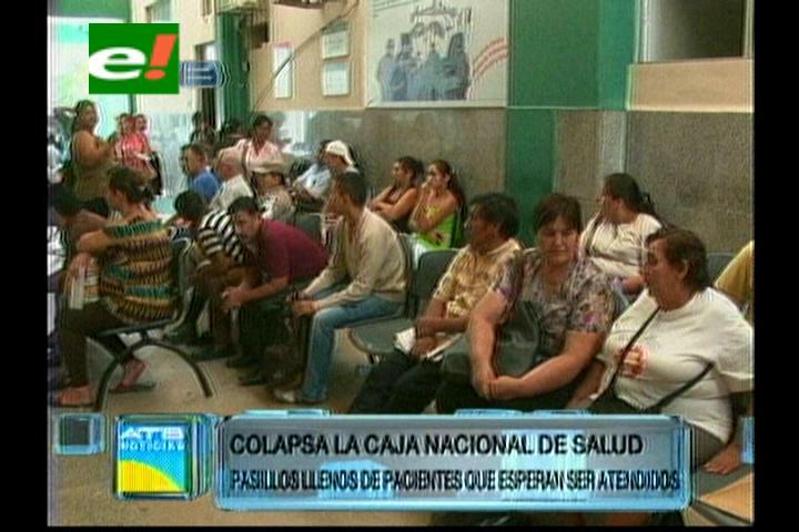 Colapsó la CNS de Santa Cruz, pasillos llenos de pacientes esperan ser atendidos