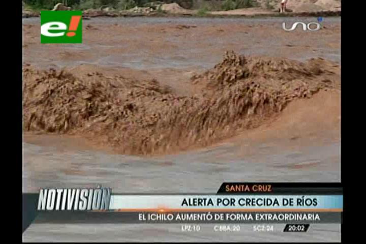 Crecida del río Ichilo amenaza con afectar carretera Santa Cruz- Cochabamba