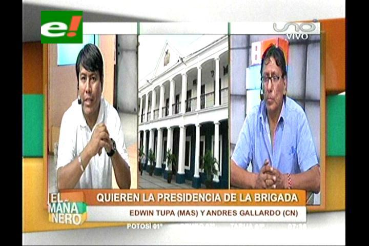 Andrés Gallardo y Edwin Tupa van por la Presidencia de la Brigada Parlamentaria Cruceña