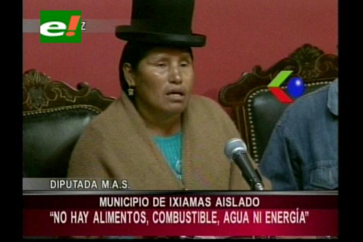 Diputada Quisbert pide atención para afectados de Ixamas y San Buenaventura