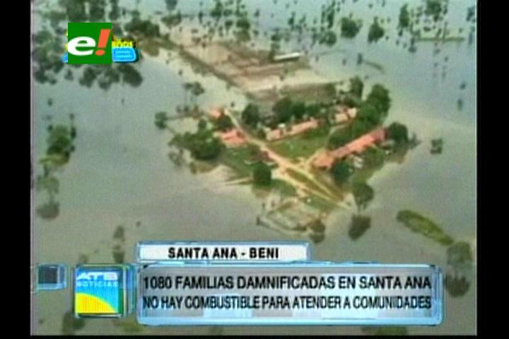 Beni: 1080 familias damnificadas por las inundaciones en Santa Ana