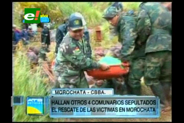 Hallan 4 cuerpos y suman 7 muertos; aún hay 7 desaparecidos en Morochata