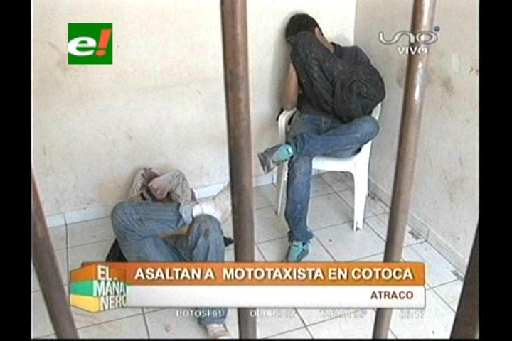 Atacan a tiros a motociclista y caen presos