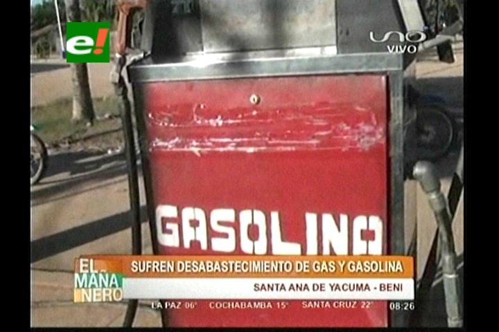 Santa Ana de Yacuma sufre desabastecimiento de carburantes