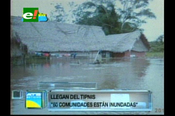 Al menos 50 comunidades del TIPNIS inundadas