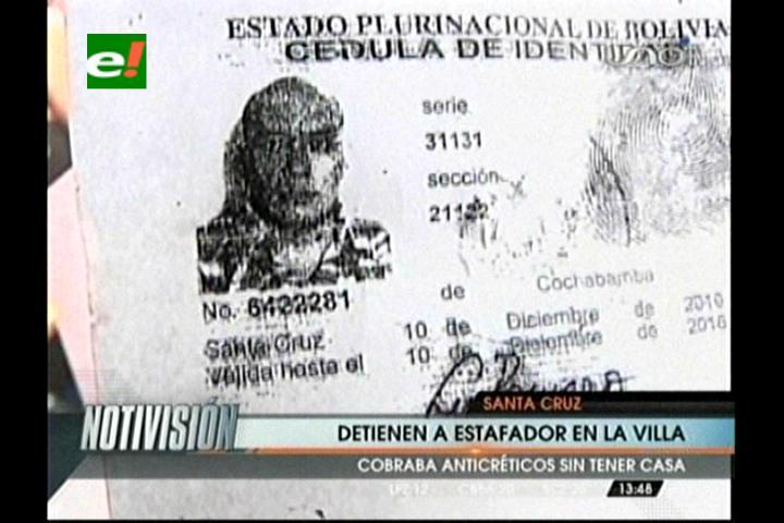 Policía detiene a un supuesto estafador en la Villa Primero de Mayo