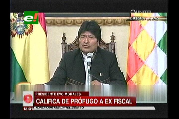 Evo Morales llama 'corrupto, delincuente confeso' a Marcelo Soza