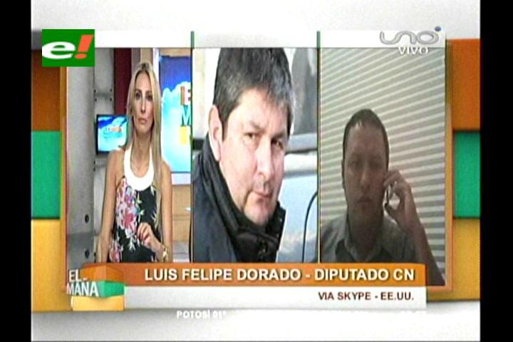 Diputado Dorado da detalles sobre el juicio Ormachea en EEUU