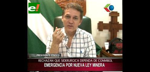 Cívicos cruceños en emergencia por la nueva Ley de Minería