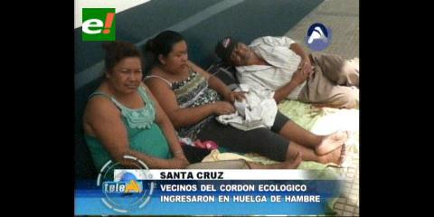 Vecinos del Cordón ecológico ingresan en huelga de hambre