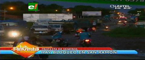 Conflicto minero: Bloquean la carretera a San Ramón