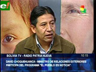 David Choquehuanca habló sobre el tema marítimo