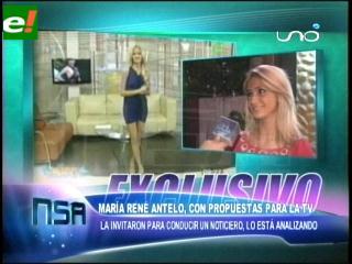 María René Antelo con propuestas para la tv.