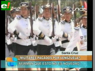Militares bolivianos recibieron fondos de Venezuela