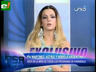 Pía Martínez modelo argentina visita Santa Cruz