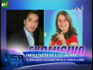 Fabiola Pastén dio a luz una bebé