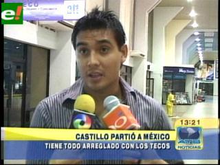 Alfredo Castillo se marchó a México