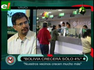 """Gonzalo Chávez: """"Bolivia solo crecerá el 4%"""""""