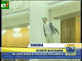 Intento de suicidio en el Parlamento rumano en protesta por recortes