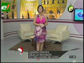 Sandra Parada se despide por siempre de la tv.