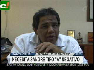 Ronald Méndez está hospitalizado