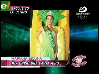 Mariana Molina renunció al reinado de la Piña 2010