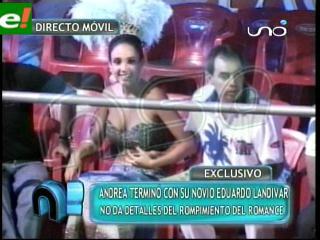 Andrea Aliaga rompió relación con Eduardo Landívar