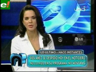 Sissi Áñez confirma alejamiento de «No mentirás»