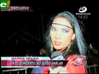 Mariana Molina disfrutó del concierto de Los Tigres del Norte