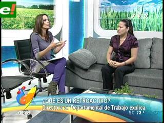 Directora de Trabajo en Santa Cruz explica sobre incremento salarial de 10%