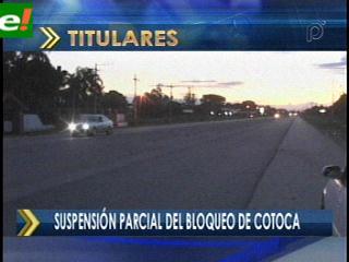 Desbloquean a medias la ruta a Cotoca