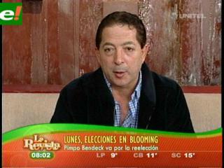Pimpo Bendeck seguro reelecto en Blooming