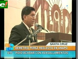 Demetrio Pérez reelegido en Anapo