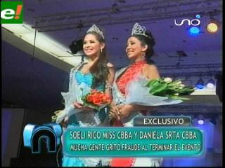 Miss Cochabamba se eligió en medio de escándalos