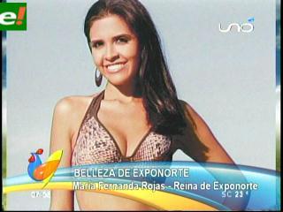 María Fernanda Rojas reina de Exponorte 2011