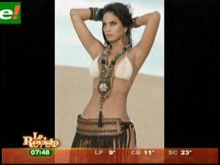 Ximena Vargas en sesión de fotos