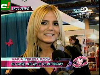 ¿María Teresa Roca se casa?