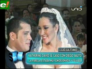 Katherine David y Diego Sauto sellaron su amor